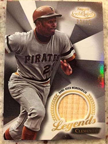 2018 Topps Gold Label MLB Legends Relics #LR-RC Roberto Clemente MEM Pittsburgh Pirates Official MLB Baseball Card from Gold Label