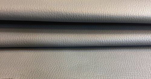 Genuine Leather Hide - Quality Spanish Full Skins - Light Grey Color - 7 sq ft - 2 oz. avg Thickness - Grain Finish - Soft Natural Lambskin Fabric - -