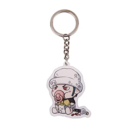 Bowinr One Piece Key Chain, Super Kawaii Anime Keychain Keyring for Kids  Teens Adults and Anime-Fans(Trafalgar Law)