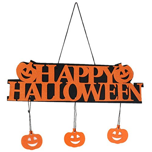 Cute Happy Halloween Pictures - Fellibay Halloween Pumpkin Banner Pumpkin Ornament Photo Props Hanging Decorations Party Signs Accessory