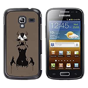 EJOY---Cubierta de la caja de protección la piel dura para el / Samsung Galaxy Ace 2 / --Astado Señora