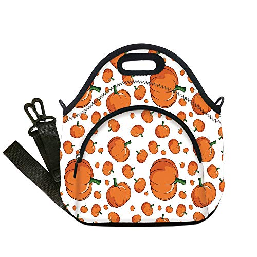 Insulated Lunch Bag,Neoprene Lunch Tote Bags,Harvest,Halloween Inspired Pattern