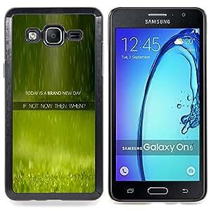 """Qstar Arte & diseño plástico duro Fundas Cover Cubre Hard Case Cover para Samsung Galaxy On5 O5 (New Day Ahora Cuando Cita Momento Vivo"""")"""