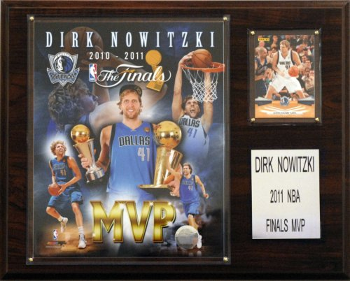 (NBA Dallas Mavericks Dirk Nowitzki 2011 NBA Finals MVP Plaque)