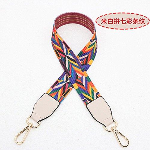 (Beige Woven belt Wide 3.8cm / Length 73cm Mini Purse/Shoulder/Cross Body Bag Replacement DIY Strap replacement purse strap)