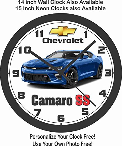 - 2016-2017 CHEVROLET CAMARO SS WALL CLOCK-ALL COLORS AVAILABLE!