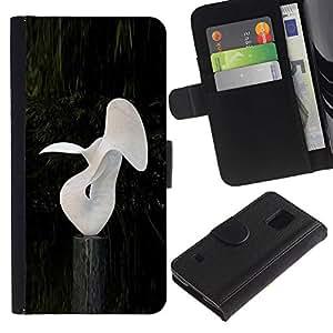 A-type (Abstracta moderna Random Arte Blanco Estatua de la sirena) Colorida Impresión Funda Cuero Monedero Caja Bolsa Cubierta Caja Piel Card Slots Para Samsung Galaxy S5 V SM-G900