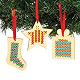Baker Ross AC505 Christmas Wooden Decoration Cross