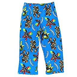 Skylanders Boys Blue Flannel Pajama Pants (XS 4/5)