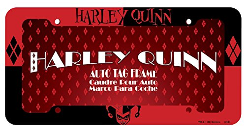 Chroma Graphics 42527 Red and Black Harley Quinn Plastic Frame -