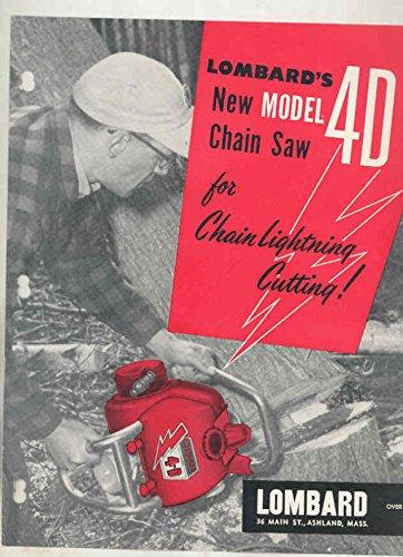 1957 Lombard Model 4D Chainsaw Brochure