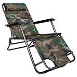 Story@Home Folding Reclining Lounge Chair For Camping Garden, Beaches, Sunbathing Outdoor Portable Relax Chair, Camo