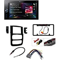 DVD CAR CD STEREO RECEIVER DASH INSTALL MOUNTING KIT WIRE HARNESS AND RADIO ANTENNA ADAPTER FOR DODGE RAM TRUCK 2002 -2005 Pioneer MVH-AV290BT 6.2 Digital Media A/V Receiver with Bluetooth