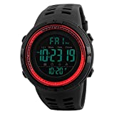Watches Men's Digital Sport Watch Electronic LED Fashion Brand Waterproof Outdoor Casual Red Watch