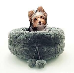 Amazon.com : Precious Tails Gray Round Pet Bed Cuddler