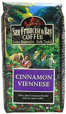 San Francisco Bay Coffee Whole Bean, Cinnamon Viennese, 12 Ounce