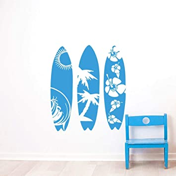 YSFU Pegatinas de pared Pegatinas De Pared DIY Tabla De Surf Desmontable Pegatinas De Pared Sala De Estar Dormitorio Decoración del Hogar Wallpaper: ...