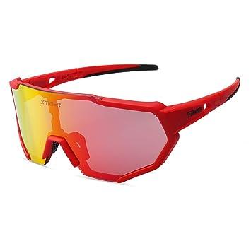 X-TIGER Gafas Ciclismo polarizadas con 3 Lentes Intercambiables UV ...
