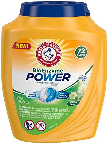 Arm & Hammer Bioenzyme Power Laundry Detergent Packs, 72