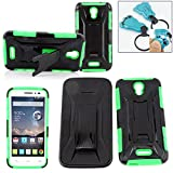 POP Astro Case, Customerfirst [Heavy Duty] [Shock-Absorption] Armor Defender Full Body Protective Hybrid Case Cover with Belt Clip for Alcatel OneTouch POP Astro – With Key Chain (ARMOR GREEN) Review