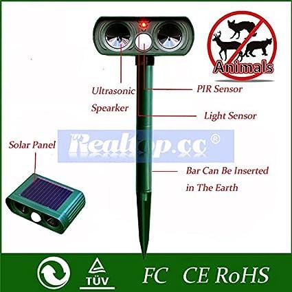 Amazon.com: Funciona con energía solar ultrasónico ...