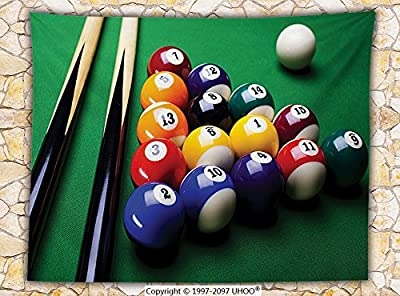 Manly Decor Fleece Throw Blanket Billiard Pool Balls Arrangement Snooker Contest Beginning Entertainment Game Throw