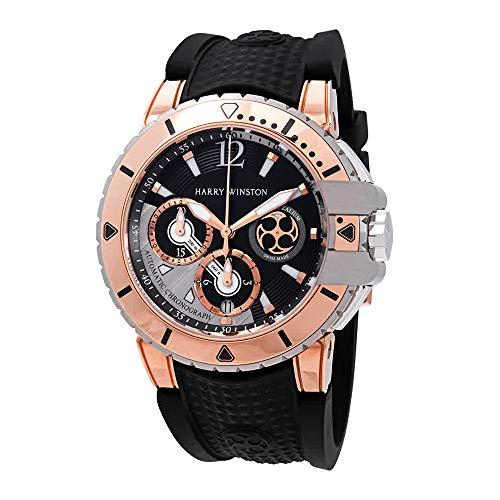 Harry Winston Ocean Diver Chronograph Automatic Dial Men's 418k Rose Gold Watch OCEACH44RZ005