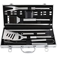 ROMANTICIST 19Pc Heavy Duty Stainless Steel BBQ Grill...