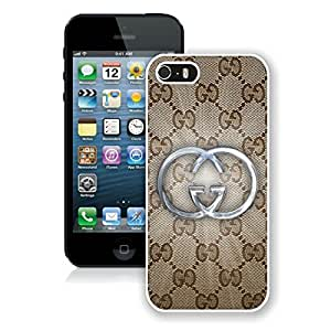 Fahionable Custom Designed iPhone 5S Cover Case With Gucci 25 White Phone Case