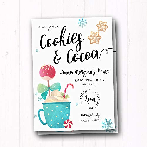Amazon com: Cookies and Cocoa Party Invites - Kids Christmas