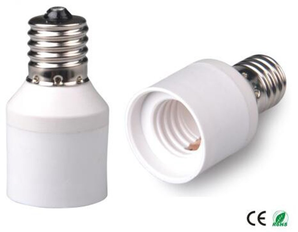 E-Simpo E17 to E17 Lamp Socket Adapter, Intermediate Lamp Socket E17 to E17 Extender, E17 Bulb Base Converter LED Light Holder (10pcs E17 to E17 Extender)