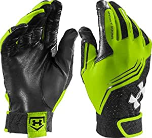 Under Armour Men's UA Clean Up Batting Gloves X-Large HYPER GREEN