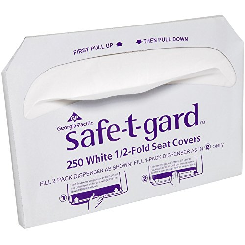 Safe-T-Gard Georgia Pacific 1/2 Fold Toilet Seat Covers, White by Georgia-Pacific