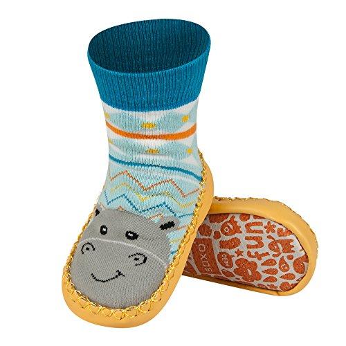 Sevira Kids - Calcetines con suela de piel para bebés de 0 a 24 meses, talla europea 19-21, diferentes colores multicolor Lapin 1 Talla:talla: 19-21 (bebé 0-24 meses, 13 cm) hipopótamo
