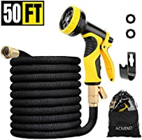"Acmind 50FT/100FT Expandable Garden Hose, Extra Strength Fabric and Double Latex Core Water Hose, 3/4"" Solid Brass..."