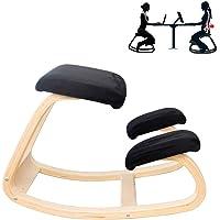 Original Kneeling Chair-Ergonomic KneelingDesigned/Rocking Posture Correcting Wooden Stool/Back Support,Rocking Kneel…