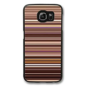 Galaxy S6 Case, S6 Cases, Customize Thin Lines Shock Absorption Bumper Case Protect S6 Hard PC Black Case Cover for Samsung Galaxy S6