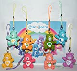 Care Bear Deluxe Party Favors Goody Bag Fillers Set of 8 Funny Dangler Figures with Bedtime Bear