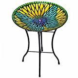 Peaktop 3208930 Bird Baths, Blue/Yellow