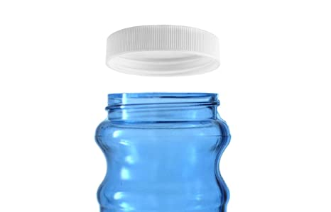 Threaded/Screw-On Caps for 3 and 5 Gallon Water Bottle Jugs (3 pk) (48mm,  White)