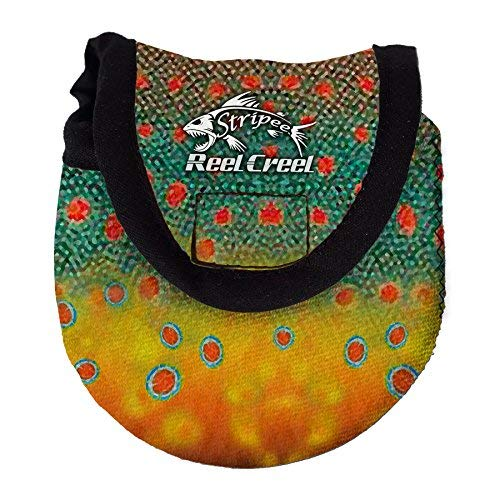 Stripee Reel Creel - Neoprene Fly Fishing Reel Cover and Protector - Brook Trout (Regular) RCFD10-F20