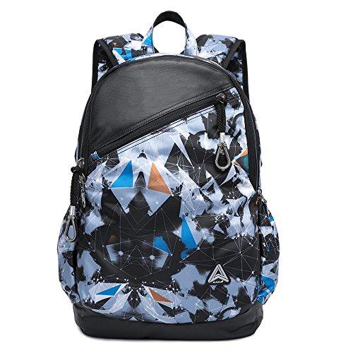 Anti-Diebstahl Schulrucksack Große Kapazität Laptop Computer Rucksack für Damen Herren Jungen Business Aktentasche für Arbeit Freizeit Outdoor Wandern Reisen Trekking Backpack (Bunt) Bunt