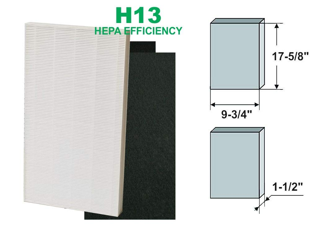 GoodVac Sharp Non-OEM HEPA FZ-C150HFU KC-860U Air Purifier Filter with 2 Pre-Filters