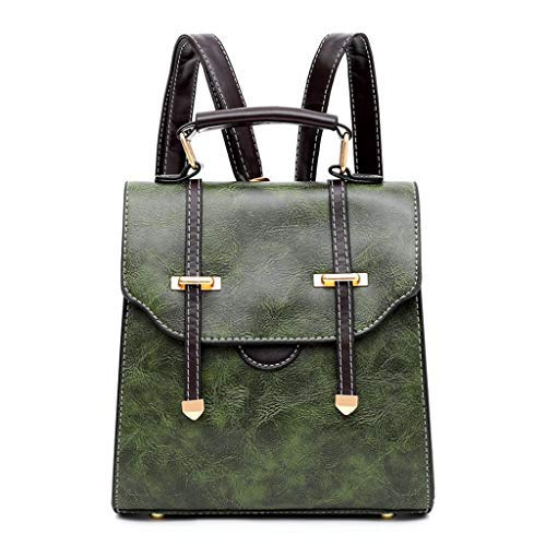 nikunLONG Handbag Multi-Functional Bags Travel Rucksack Fits Men's Leather Messenger Bag Shoulder Bag