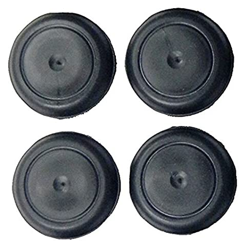 Ergonomic Button Plugs with Flush-Type Heads || Made in USA by CAPLUGS 1.00 inch Pack of 10 1 - Fits 1 Hole Diameter Black Rubber Plugs || for Flush Mount Body and Sheet Metal Holes