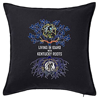 Tenacitee Living in Idaho with Kentucky Roots Pillow Cover