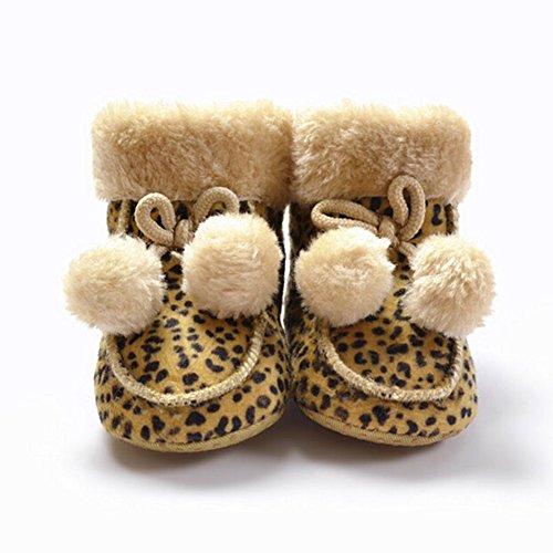 Fire Frog Winter Snow Boots - Patucos de Ante para niño Leoprd