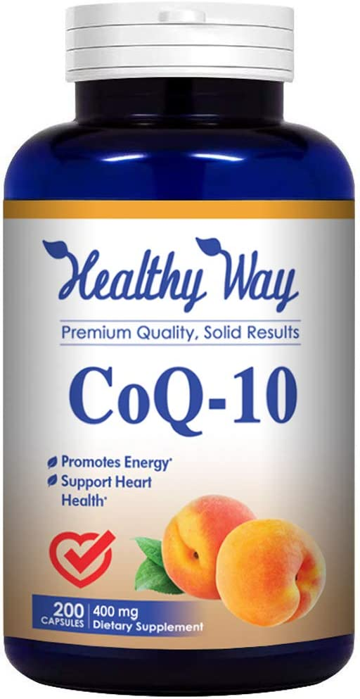 Amazon.com: Healthy Way Pure CoQ10 400mg Per Serving - 200 Capsules Supports Heart Health & Helps Maintain Healthy Blood Pressure - Non-GMO USA Made: Health & Personal Care