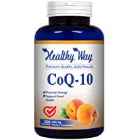 Healthy Way Pure CoQ10 400mg Per Serving - 200 Capsules Supports Heart Health & Helps Maintain Healthy Blood Pressure - Non-GMO USA Made
