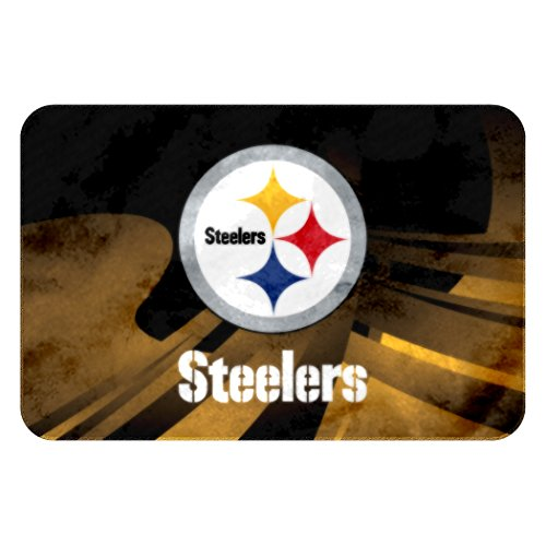 The Northwest Company Officially Licensed NFL Pittsburgh Steelers Raschel Rug with Non-Skid Backing, 20